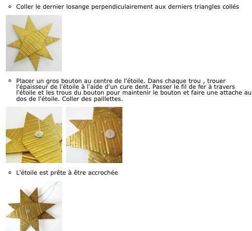 L'étoile dorée en carton