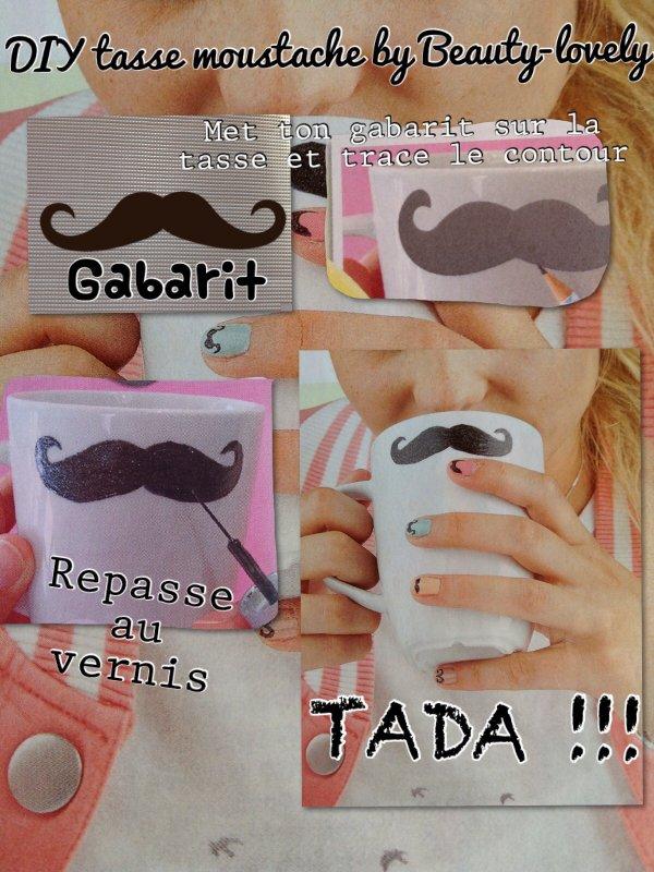 DIY - sa tasse moustache
