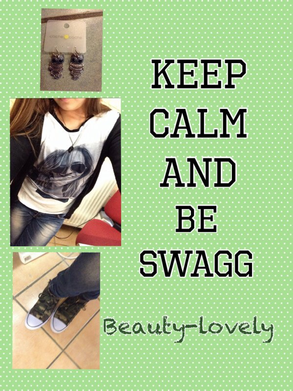 KEEP CALM AND BE SWAGG