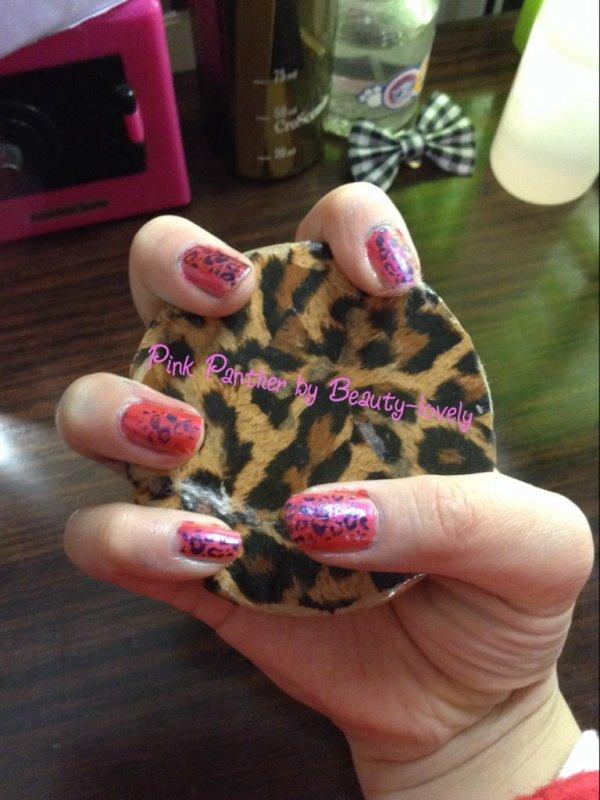 Nail Art - Pink Panther