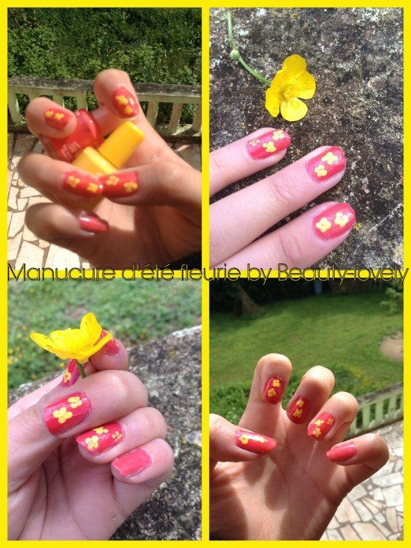 Manucure d'été fleurie