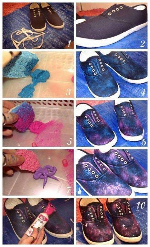 DIY - La chaussures Galaxy