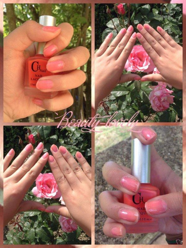 Manucure rose fluo