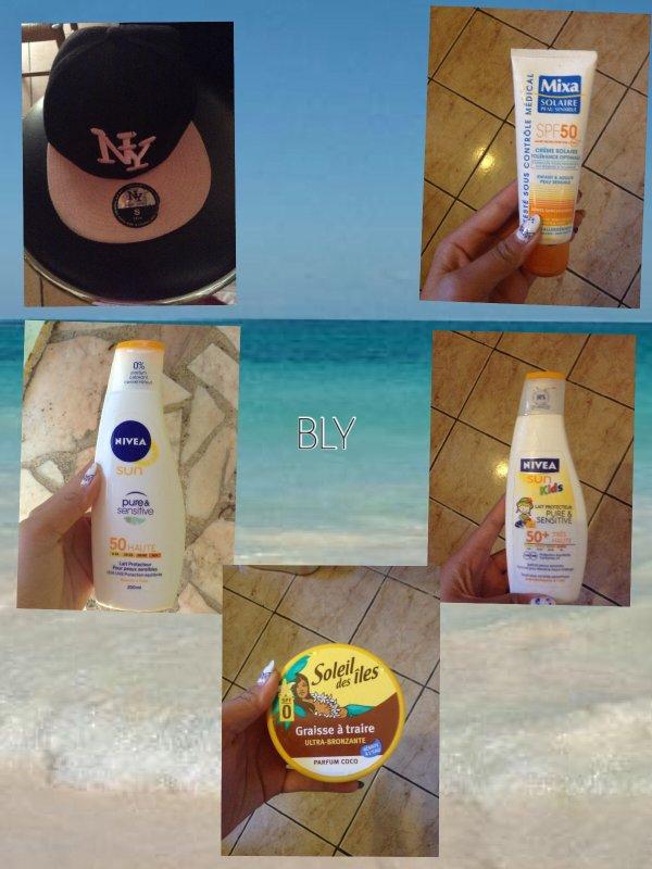 Moi & L'ete + crèmes solaires et bronzantes