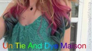Un Tie And Dye Maison !!