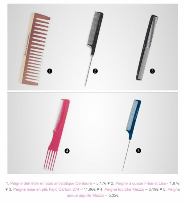 Les types de brosses - Adaptation types de cheveux