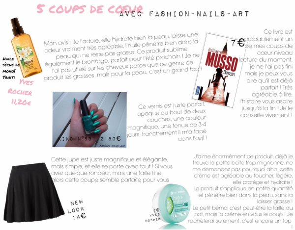 5 coups de c½ur avec Fashion-Nails-Art