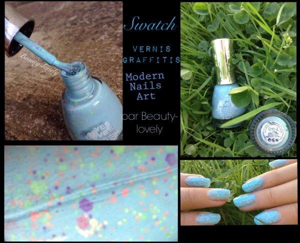 Swatch vernis graffitis bleu