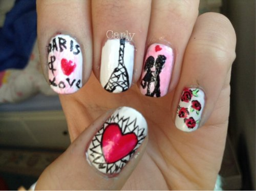 Nail Art Paris & Love