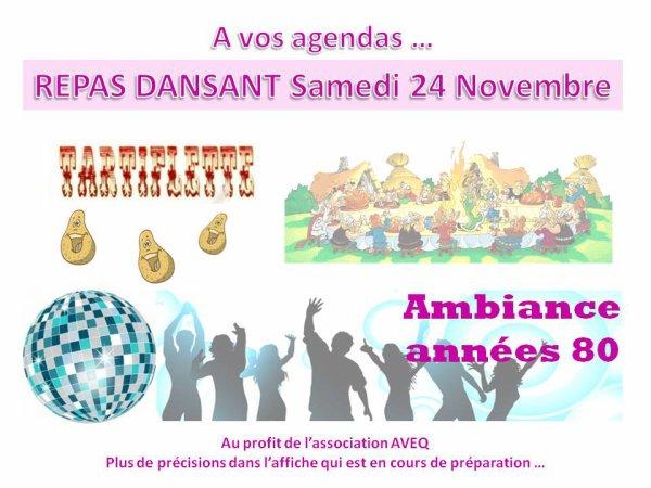 REPAS DANSANT SAMEDI 24 NOVEMBRE 2012