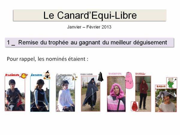LE CANARD'EQUI-LIBRE DE JANVIER/FEVRIER PAR ISABELLE