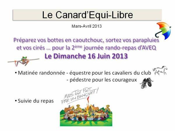 LE CANARD'EQUI-LIBRE DE MARS/AVRIL PAR ISABELLE