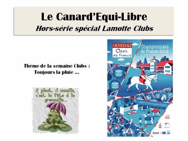 LE CANARD'EQUI-LIBRE HORS SERIE SPECIAL LAMOTTE CLUB PAR ISABELLE