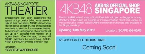 World's first AKB48 cafe in Singapore