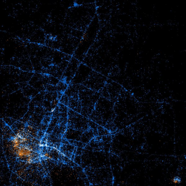 'Light show' maps showcase Twitter, Flickr usage around the world Part 001