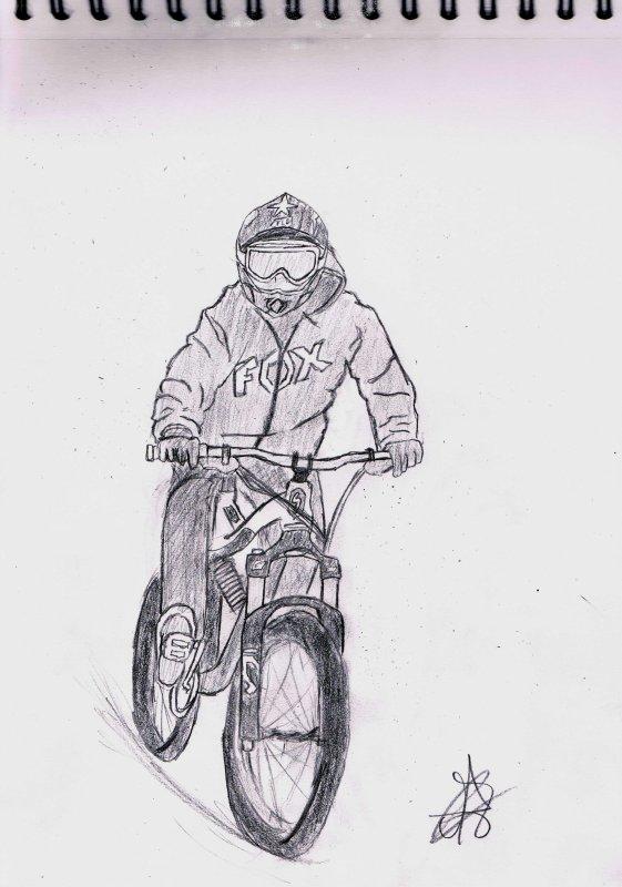 dessin VTT downhill