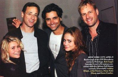 John Stamos, Bob Saget, Dave Coulier, Marie Kate et Ashley Olsen