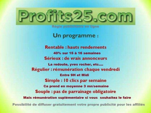 * PROFITS25