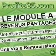 Profits25 revenus partagés