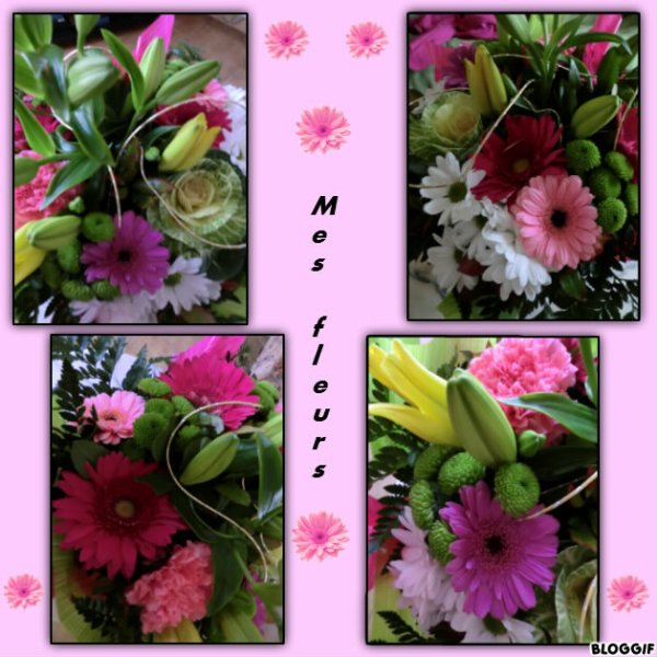 -ooo- Un petit montage avec le beau bouquet qui m'avait été offert -ooo-