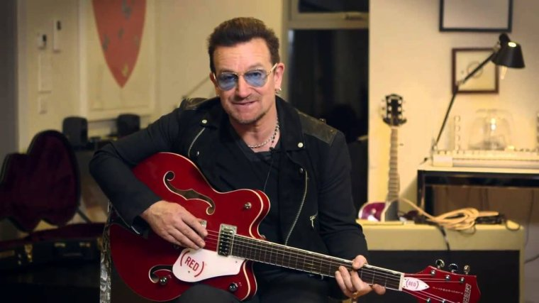Hang with Bono and he'll give you his (RED) guitar.