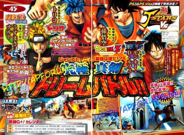 J-Stars Victory VS » le nouveau crossover de Namco Bandai