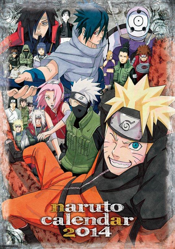 Calendrier Shueisha Naruto ナルト 2014