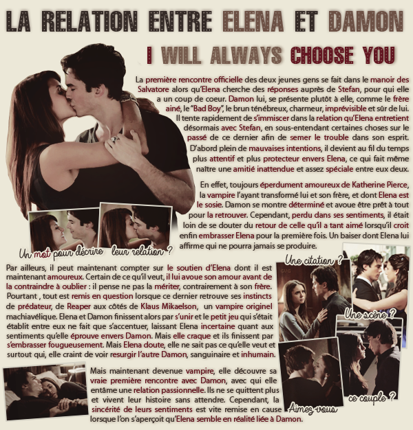 • Article : Elena Gilbert & Damon Salvatore (The Vampire Diaries)________________________-Newsletter- || -Création- || -Inspiration-