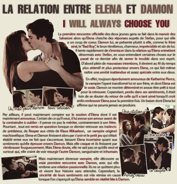 • Article : Elena Gilbert & Damon Salvatore (The Vampire Diaries)________________________-Newsletter- || -Création- || -Inspiration-
