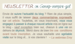 • Article : Newsletter on Gossip-vampire-girl (One Tree Hill Gif)___________________________________-Création- || -Inspiration-