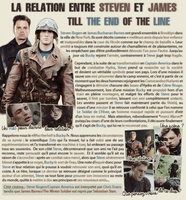 • Article : Steven Rogers & James Barnes (Captain America)_______________-_____________-Newsletter- || -Création- || -Inspiration-