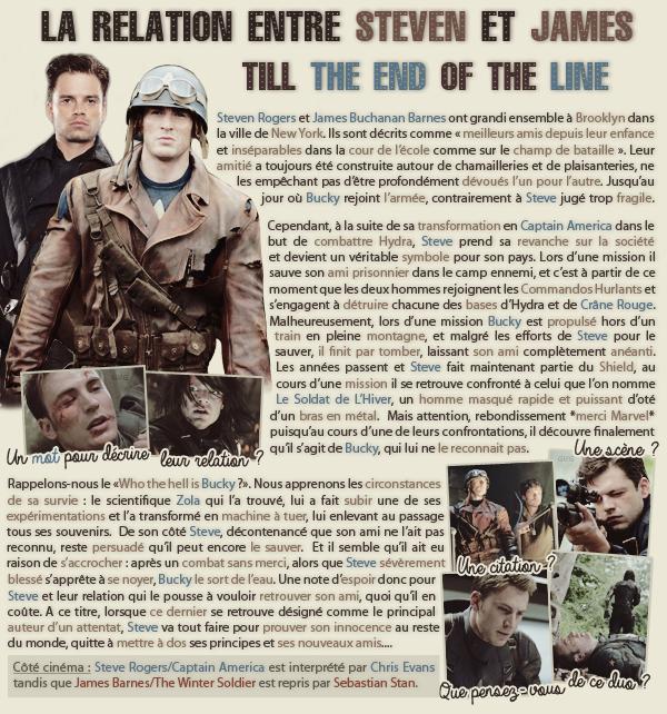 • Article : Steven Rogers & James Barnes (Captain America)_______________-_____________-Newsletter- || -Création- || -Inspiration-