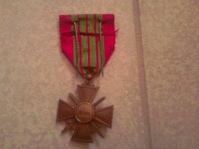 Croix de guerre française , 1 étoile (ww2)