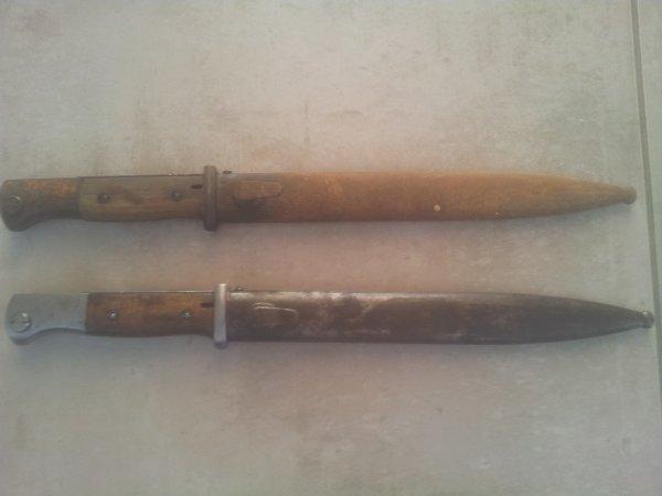 2 Baïonnettes Mauser 98K