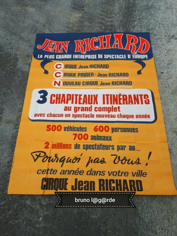 affiche  murale  cirque jean richard