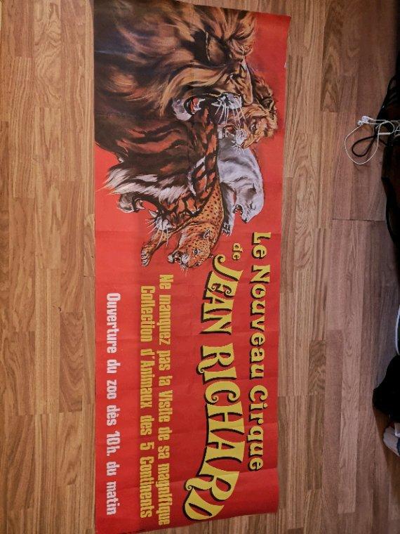 bandeau affiche murale nouveau cirque Jean Richard 1976