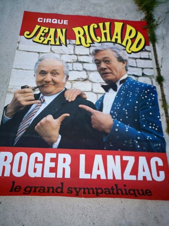 affiche murale 120X160 cirque Jean Richard 1982
