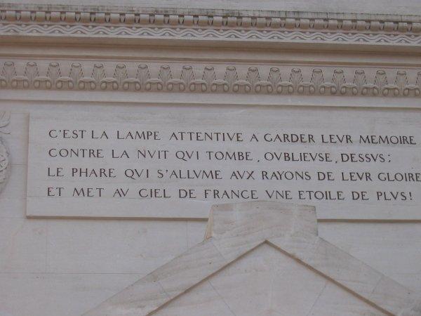INSCRIPTION SUR LA TOUR DE LA LANTERNE
