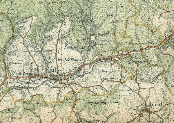 BATAILLE D'ETHE 22 AOUT 1914 : LE TERRAIN