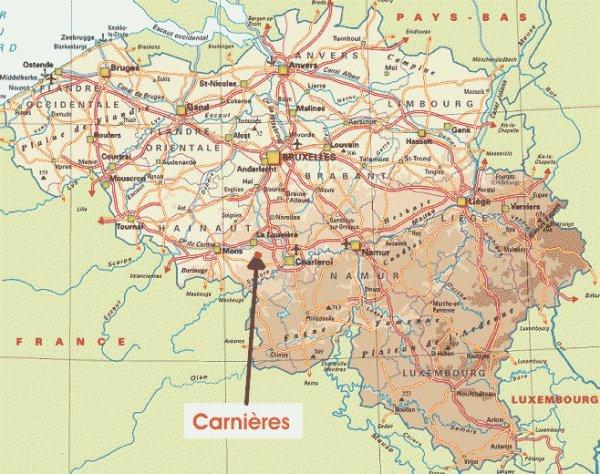 COMBAT DE CARNIERES COLLARMONT 22 AOUT 1914 : LE TERRAIN