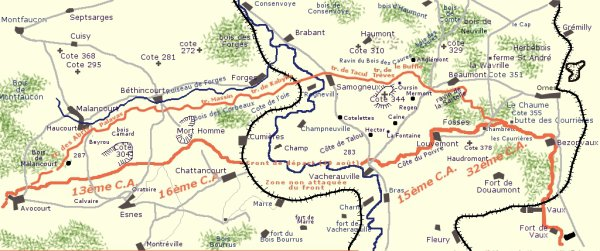 BATAILLE DE VERDUN 1916 : JOURNEE DU 25 MAI 1916
