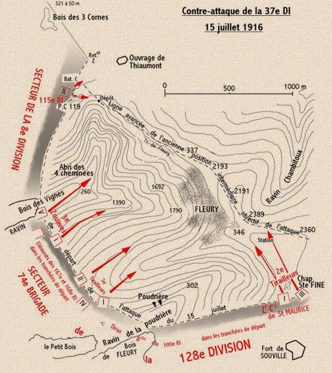 BATAILLE DE VERDUN 1916 : JOURNEE DU 15 JUILLET 1916