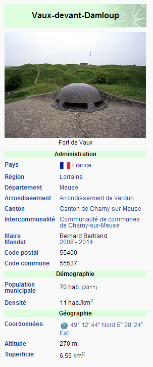 VILLAGE DÉTRUIT DE VAUX