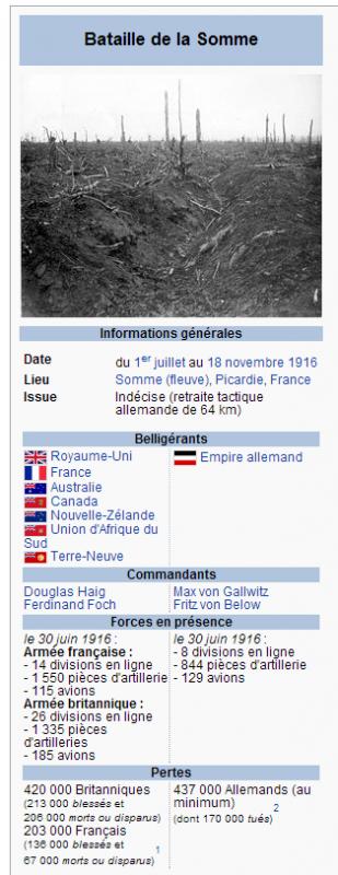 BATAILLE DE LA SOMME 1916 : BILAN