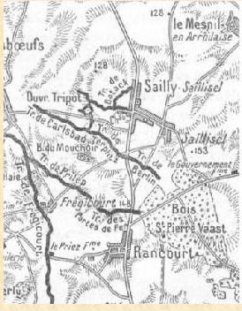 BATAILLES DE COMBLES ET DE SAILLY-SAILLISEL  1916