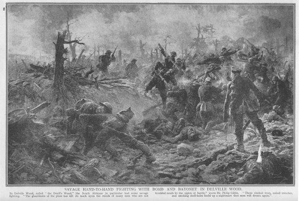 BATAILLE DU BOIS DELVILLE 1916