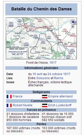 CHEMIN  DES  DAMES 1917  :  RESULTATS  ET  BILAN