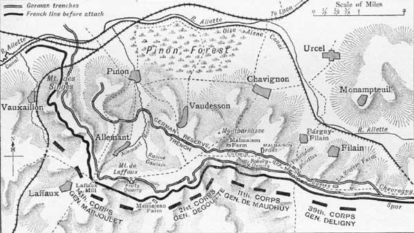 BATAILLE DE LA MALMAISON  1917 : DU 23 OCTOBRE AU 26 OCTOBRE
