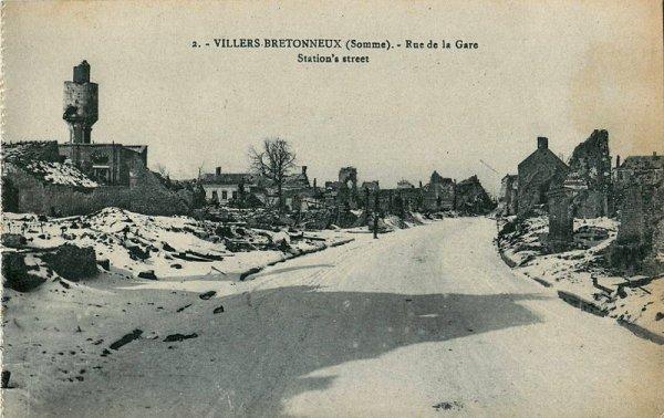 VILLERS- BRETONNEUX  :    24  AU  26  AVRIL  1918 : LOCALISATION