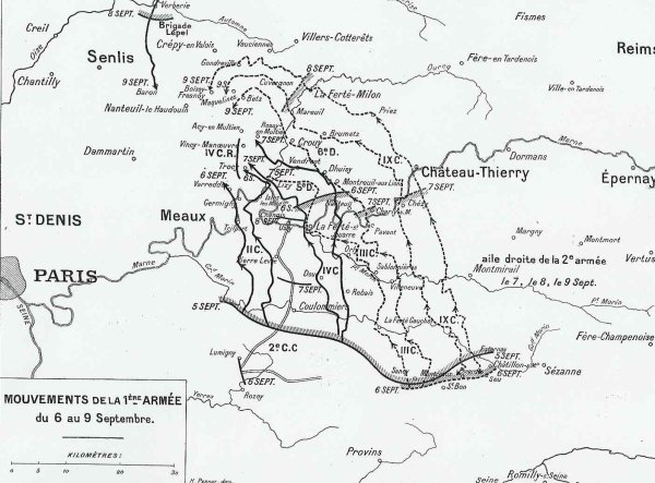 BATAILLE DE L'OURCQ : JOURNEES DU 4 AU 6 SEPTEMBRE 1914